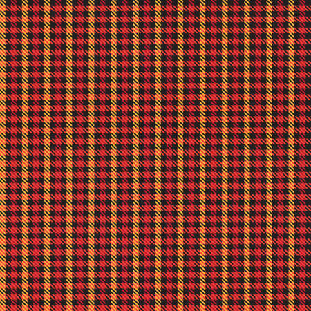 Orange Glen Plaid textured seamless pattern suitable for fashion textiles and graphics