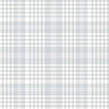 White Glen Plaid textured seamless pattern suitable for fashion textiles and graphics