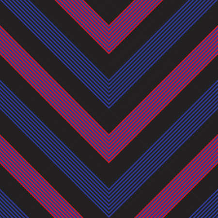 Red and Blue Chevron diagonal striped seamless pattern background 向量圖像