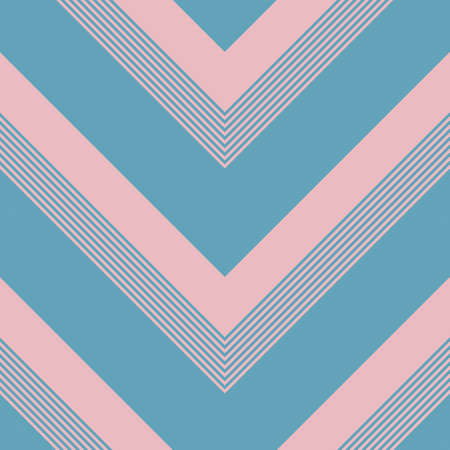 Pink and blue chevron diagonal striped seamless pattern background 向量圖像