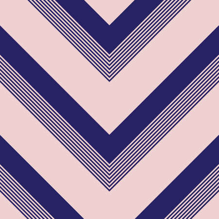 Pink and navy Chevron diagonal striped seamless pattern background