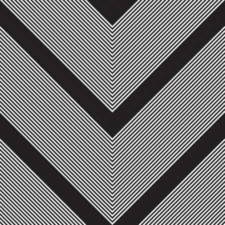 Black and white Chevron diagonal striped seamless pattern background