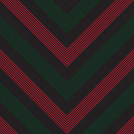 Red and Green Chevron diagonal striped seamless pattern background