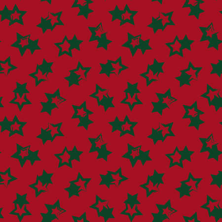 Christmas Stars brush stroke seamless pattern background for fashion textiles, graphics