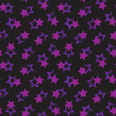 Purple Stars brush stroke seamless pattern background for fashion textiles, graphics