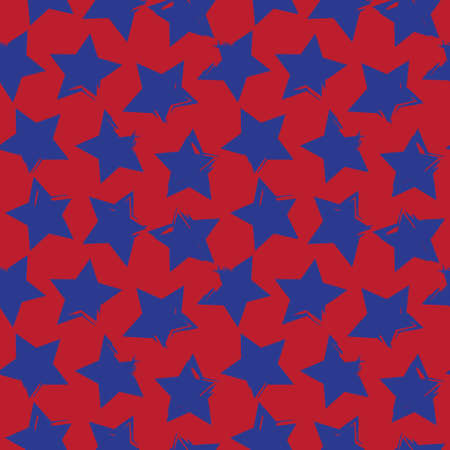 Red Navy Stars brush stroke seamless pattern background for fashion textiles, graphics Illusztráció