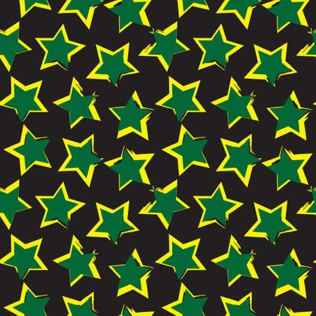 Yellow Stars brush stroke seamless pattern background for fashion textiles, graphics