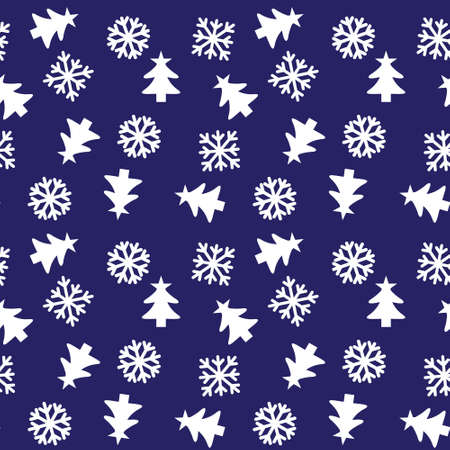 Christmas Blue Holiday seamless pattern background for website graphics, fashion textiles