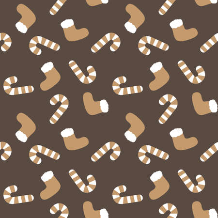 Christmas Brown Holiday seamless pattern background for website graphics, fashion textiles