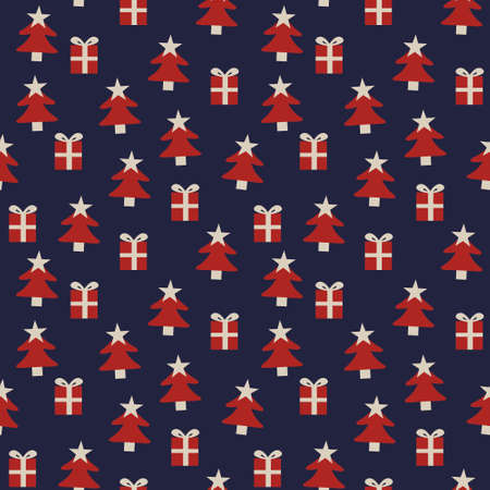 Christmas Orange Holiday seamless pattern background for website graphics, fashion textiles Stock Illustratie