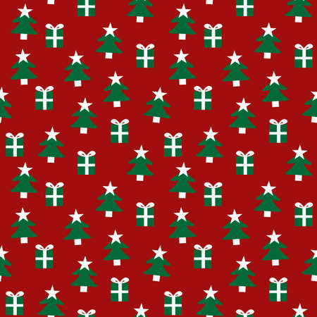 Christmas Holiday seamless pattern background for website graphics, fashion textiles Stock Illustratie