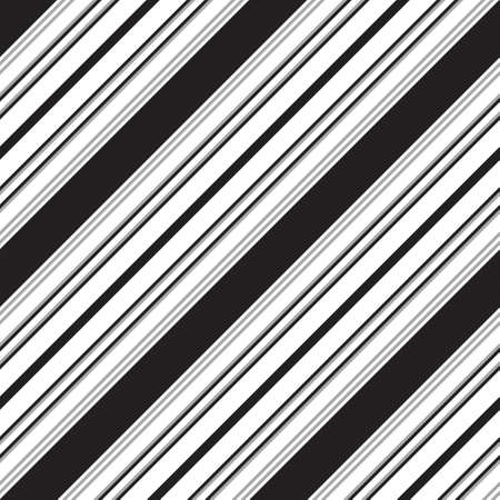 Black and white diagonal striped seamless pattern background suitable for fashion textiles, graphics Vectores