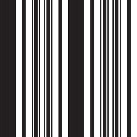 Black and white vertical striped seamless pattern background suitable for fashion textiles, graphics Vectores