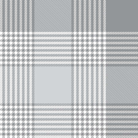 White Glen Plaid textured seamless pattern suitable for fashion textiles and graphics  イラスト・ベクター素材