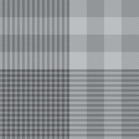 Grey Glen Plaid textured seamless pattern suitable for fashion textiles and graphics Ilustración de vector