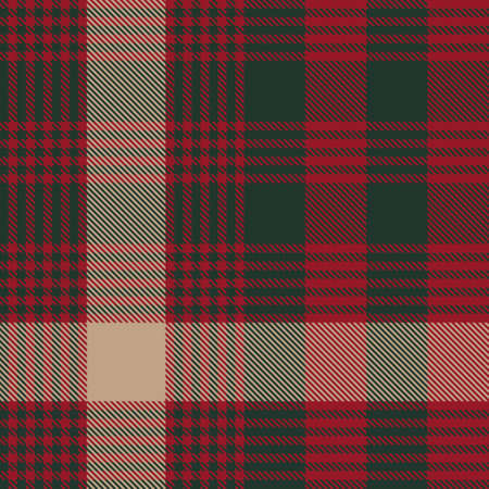 Christmas Glen Plaid textured seamless pattern suitable for fashion textiles and graphics Векторная Иллюстрация