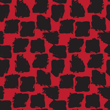 Red Brush Stroke Camouflage abstract seamless pattern background suitable for fashion textiles, graphics