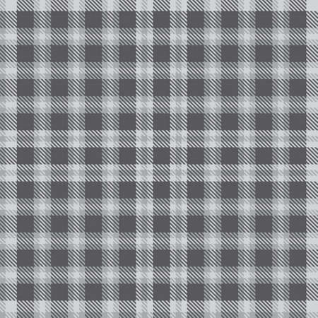 Grey Plaid, checkered, tartan seamless pattern suitable for fashion textiles and graphics Vector Illustration