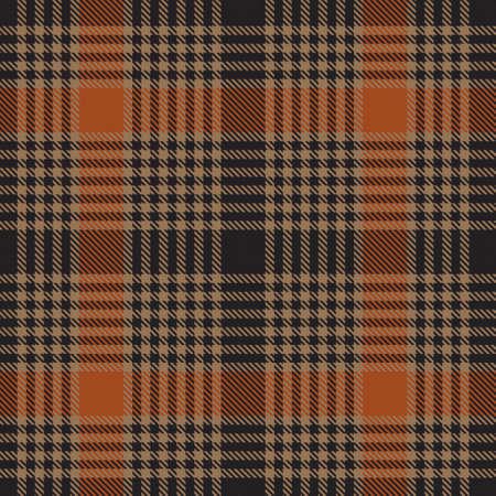 Orange Plaid, checkered, tartan seamless pattern suitable for fashion textiles and graphics Ilustración de vector