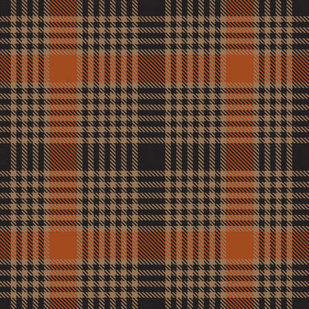 Orange Plaid, checkered, tartan seamless pattern suitable for fashion textiles and graphics Vector Illustration
