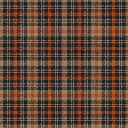 Orange Plaid, checkered, tartan seamless pattern suitable for fashion textiles and graphics