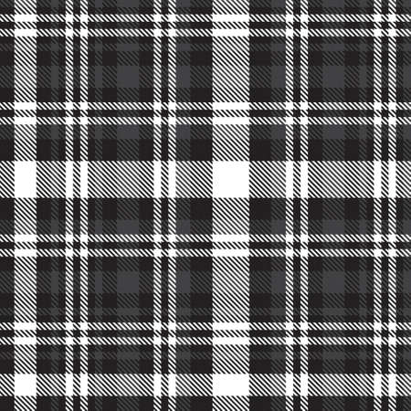 Black and White Glen Plaid textured seamless pattern suitable for fashion textiles and graphics