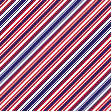 Red and Blue diagonal striped seamless pattern background suitable for fashion textiles, graphics
