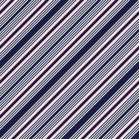 Pink and navy diagonal striped seamless pattern background suitable for fashion textiles, graphics