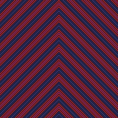Red and Blue Chevron diagonal striped seamless pattern background suitable for fashion textiles, graphics