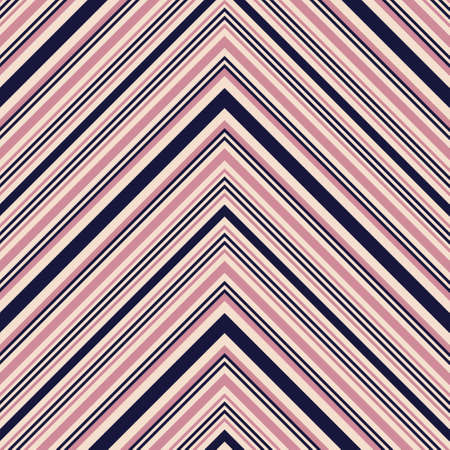 Pink and navy Chevron diagonal striped seamless pattern background suitable for fashion textiles, graphics