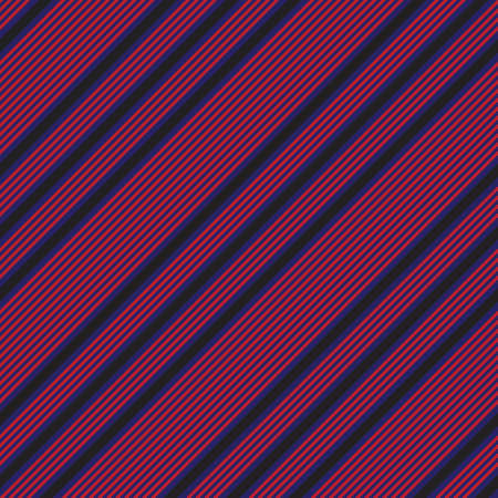 Red and Blue diagonal striped seamless pattern background suitable for fashion textiles, graphics Vektorové ilustrace