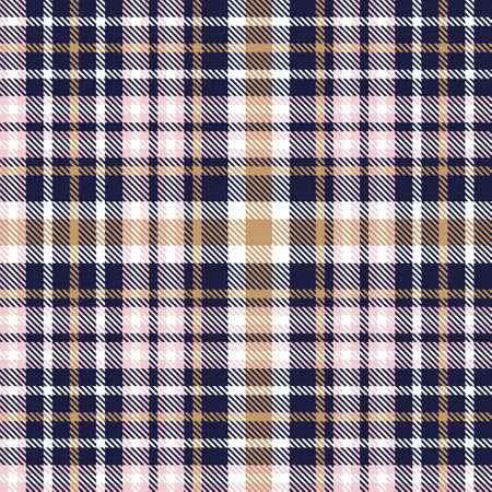 Pink Navy Glen Plaid textured seamless pattern suitable for fashion textiles and graphics Vetores