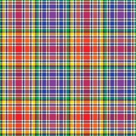 Rainbow Glen Plaid textured seamless pattern suitable for fashion textiles and graphics
