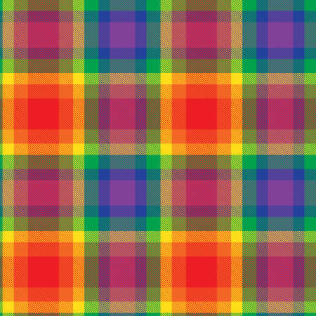 Rainbow Glen Plaid textured seamless pattern suitable for fashion textiles and graphics Ilustración de vector
