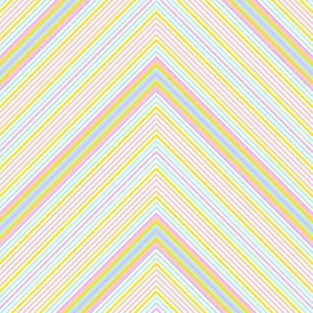 Rainbow Chevron diagonal striped seamless pattern background suitable for fashion textiles, graphics