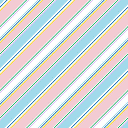 Rainbow diagonal striped seamless pattern background suitable for fashion textiles, graphics Illustration