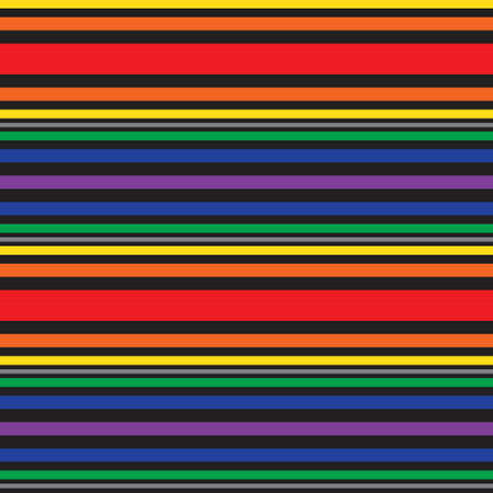 Rainbow Horizontal striped seamless pattern background suitable for fashion textiles, graphics Illustration