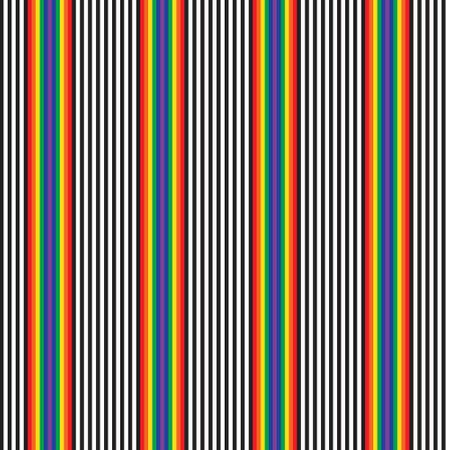 Rainbow vertical striped seamless pattern background suitable for fashion textiles, graphics