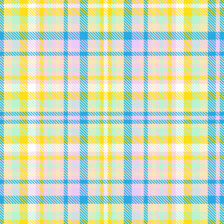 Rainbow Tartan Glen Plaid textured seamless pattern suitable for fashion textiles and graphics Illusztráció
