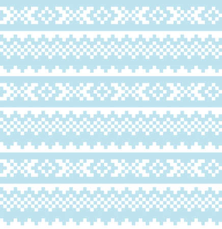 Sky Blue Christmas fair isle pattern background for fashion textiles, knitwear and graphics