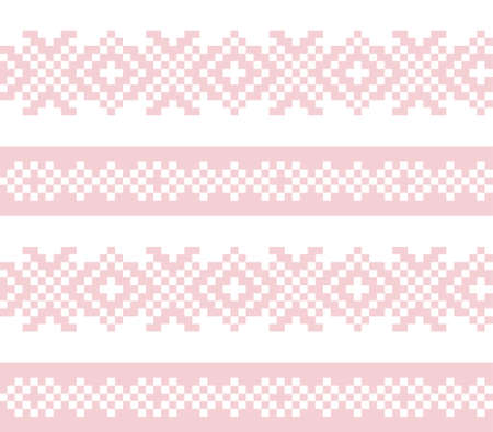 Pink Navy Christmas fair isle pattern background for fashion textiles, knitwear and graphics