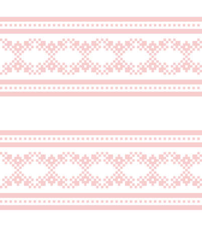 Pink Navy Christmas fair isle pattern background for fashion textiles, knitwear and graphics 向量圖像
