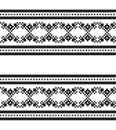 Black and White Christmas fair isle pattern background for fashion textiles, knitwear and graphics 向量圖像