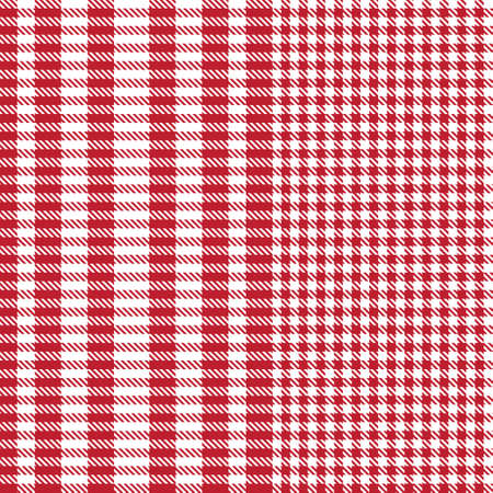 Red Glen Plaid textured seamless pattern suitable for fashion textiles and graphics Vektorgrafik