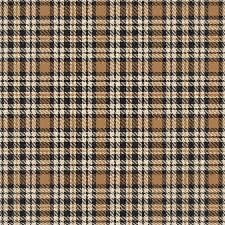 Brown Glen Plaid textured seamless pattern suitable for fashion textiles and graphics