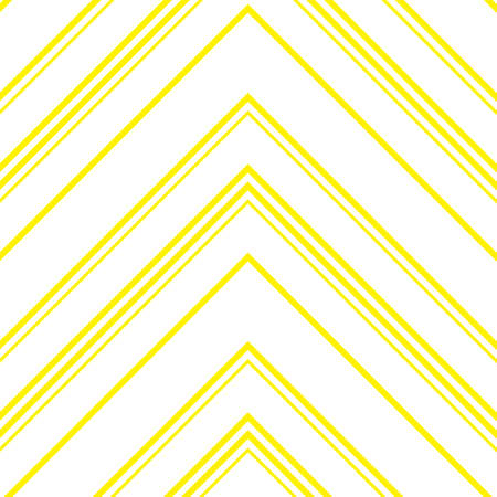 Yellow Chevron diagonal striped seamless pattern background suitable for fashion textiles, graphics Standard-Bild - 157130069