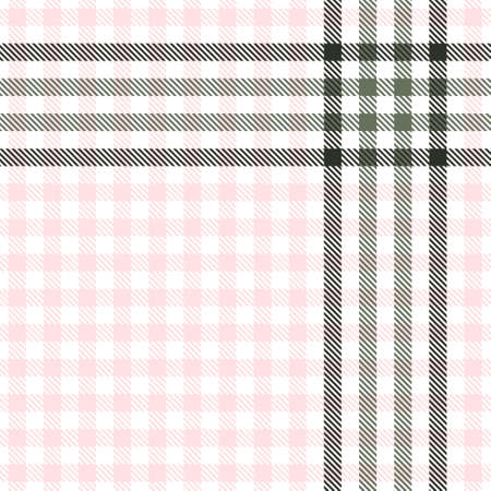 Pink Glen Plaid textured seamless pattern suitable for fashion textiles and graphics