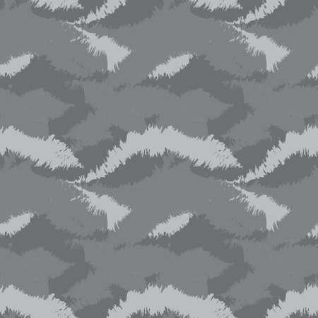 Grey Brush stroke fur pattern design for fashion prints, homeware, graphics, backgrounds 矢量图像