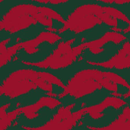 Christmas Brush stroke fur pattern design for fashion prints, homeware, graphics, backgrounds 矢量图像