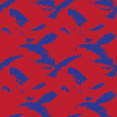 Red Navy Brush stroke fur pattern design for fashion prints, homeware, graphics, backgrounds